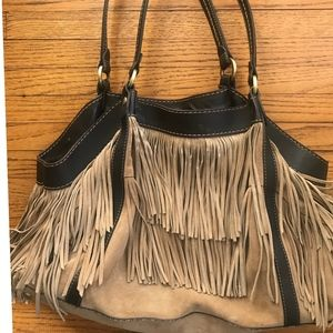 Leather Bag with Fringes by Hogan